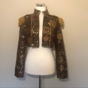 Shrine Toreador Cropped Tapestry Jacket